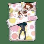 My Hero Academia Bed Set Uraraka Ochaco Bedding Anime Gift For Fans