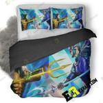 Aquaman And Ocean Master International Poster 8K C1 3D Customize Bedding Sets Duvet Cover Bedroom set Bedset Bedlinen , Comforter Set