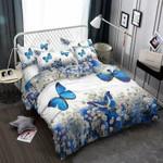 Blue Butterflies 3D Customize Bedding Set Duvet Cover SetBedroom Set Bedlinen , Comforter Set