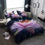 Lotus Flower 3D Customize Bedding Set Duvet Cover SetBedroom Set Bedlinen , Comforter Set