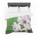 "Angie Turner ""Magnolias"" Pink Green Featherweight3D Customize Bedding Set/ Duvet Cover Set/  Bedroom Set/ Bedlinen , Comforter Set"