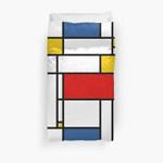 Mondrian Modern De Stijl 3D Personalized Customized Duvet Cover Bedding Sets Bedset Bedroom Set , Comforter Set
