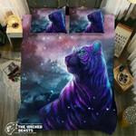 Default  Purple Night Tiger3D Customize Bedding Set/ Duvet Cover Set/  Bedroom Set/ Bedlinen , Comforter Set