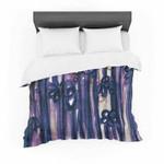 """Ebi Emporium """"Winter Garden in Violet"""" Purple Featherweight3D Customize Bedding Set Duvet Cover SetBedroom Set Bedlinen , Comforter Set"""