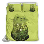 3D Customize Cheerful Cat With Flowers Bedding Set Duvet Cover EXR1117 , Comforter Set