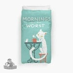 Mornings Are The Worst 3D Personalized Customized Duvet Cover Bedding Sets Bedset Bedroom Set , Comforter Set