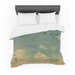 "Robin Dickinson ""Pterodactyls"" Blue Tan Cotton3D Customize Bedding Set Duvet Cover SetBedroom Set Bedlinen , Comforter Set"