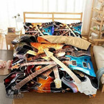Pile Of Guitars 3D Customize Bedding Set Duvet Cover SetBedroom Set Bedlinen , Comforter Set