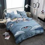 Swans & Cherry Blossom 3D Customize Bedding Set/ Duvet Cover Set/  Bedroom Set/ Bedlinen , Comforter Set