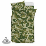 Camouflage Knitting Green Camo 3D Customize Bedding Set Duvet Cover SetBedroom Set Bedlinen , Comforter Set