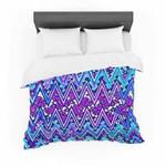 "Nika Martinez ""Blue Electric Chevron"" Cotton3D Customize Bedding Set Duvet Cover SetBedroom Set Bedlinen , Comforter Set"