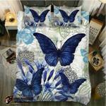 DefaultBlue Lily Viceroy Butterfly3D Customize Bedding Set Duvet Cover SetBedroom Set Bedlinen , Comforter Set