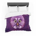 "Ancello ""Hoot!"" Owl Purple Featherweight3D Customize Bedding Set/ Duvet Cover Set/  Bedroom Set/ Bedlinen , Comforter Set"