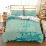 3D Natural Scenery Sailboat Printed Bedroom Blanket Mats Bed Quilt 3pcs Christmas Bedding Set EXR4503 , Comforter Set