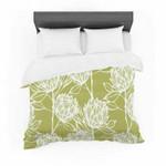 "Gill Eggleston ""Protea Olive White"" Green Flowers Featherweight3D Customize Bedding Set Duvet Cover SetBedroom Set Bedlinen , Comforter Set"