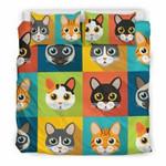 Cute Catsfor Cat Loverz3D Customize Bedding Set Duvet Cover SetBedroom Set Bedlinen , Comforter Set