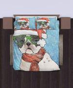 Santa Bulldog (Christmas 2018)3D Customize Bedding Set/ Duvet Cover Set/  Bedroom Set/ Bedlinen , Comforter Set
