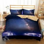 3 Piece Set Digital Lightning Hurricane Florence Path Home Supplies Bedding EXR81 , Comforter Set