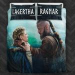 Vikings Lagertha and Ragnar 3D Customize Bedding Set Duvet Cover SetBedroom Set Bedlinen , Comforter Set