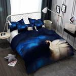 Swan In Moonlight 3D Customize Bedding Set Duvet Cover SetBedroom Set Bedlinen , Comforter Set