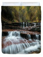 Zion Trail Waterfall 3D Personalized Customized Duvet Cover Bedding Sets Bedset Bedroom Set , Comforter Set