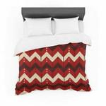 "Nick Atkinson ""Chevron Dance Red"" Cotton3D Customize Bedding Set Duvet Cover SetBedroom Set Bedlinen , Comforter Set"