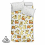 Doodle Bulldogs 3D Customize Bedding Set Duvet Cover SetBedroom Set Bedlinen , Comforter Set
