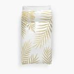 Gold Palm Leaves 3D Personalized Customized Duvet Cover Bedding Sets Bedset Bedroom Set , Comforter Set