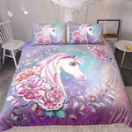 Watercolour Floral Unicorn 3D Customize Bedding Set/ Duvet Cover Set/  Bedroom Set/ Bedlinen , Comforter Set