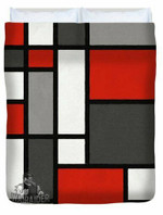 Red Grey Black Mondrian Inspired 3D Personalized Customized Duvet Cover Bedding Sets Bedset Bedroom Set , Comforter Set