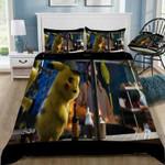 3D Customize Pokmon Detective Pikachu Bedding Set Duvet Cover #56 EXR3177 , Comforter Set