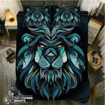 Triangle Green Lion3D Customize Bedding Set/ Duvet Cover Set/  Bedroom Set/ Bedlinen , Comforter Set