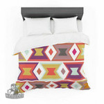 """Pellerina Design """"Aztec Weave"""" Orange Purple Featherweight3D Customize Bedding Set/ Duvet Cover Set/  Bedroom Set/ Bedlinen , Comforter Set"""