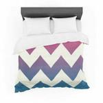 "Catherine McDonald ""Fade to Blue"" Chevron Featherweight3D Customize Bedding Set Duvet Cover SetBedroom Set Bedlinen , Comforter Set"