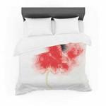 "Louise ""Poppy"" Pink Floral Featherweight3D Customize Bedding Set/ Duvet Cover Set/  Bedroom Set/ Bedlinen , Comforter Set"