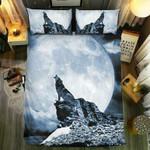 Wolf Howling At Moon #092143D Customize Bedding Set/ Duvet Cover Set/  Bedroom Set/ Bedlinen , Comforter Set