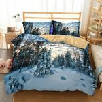 Snowy Forest 3D Customize Bedding Set Duvet Cover SetBedroom Set Bedlinen , Comforter Set