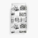 Vintage Camera Collection 3D Personalized Customized Duvet Cover Bedding Sets Bedset Bedroom Set , Comforter Set