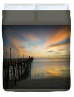 Oceanside Pier Sunset 3D Personalized Customized Duvet Cover Bedding Sets Bedset Bedroom Set , Comforter Set