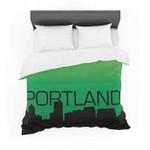 """Portland"" Green Black Featherweight3D Customize Bedding Set/ Duvet Cover Set/  Bedroom Set/ Bedlinen , Comforter Set"