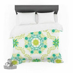 "Annelineophia ""Let's Dance Green"" Teal Floral Featherweight3D Customize Bedding Set/ Duvet Cover Set/  Bedroom Set/ Bedlinen , Comforter Set"