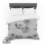 "Pellerina Design ""Lace Peony in Gray"" Grey Floral Featherweight3D Customize Bedding Set Duvet Cover SetBedroom Set Bedlinen , Comforter Set"