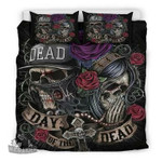 Rose Sugar Skull 3D Personalized Customized Bedding Sets Duvet Cover Bedroom Sets Bedset Bedlinen , Comforter Set