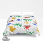 3D Aliens in space - white background Duvet Cover Bedding Sets , Comforter Set