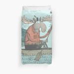 Moose Canoe' (Color) 3D Personalized Customized Duvet Cover Bedding Sets Bedset Bedroom Set , Comforter Set