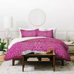 Jacqueline Maldonado Radiate Raspberry Gold Duvet Cover , Comforter Set