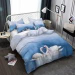 Pair Ofwans On A Lake 3D Customize Bedding Set Duvet Cover SetBedroom Set Bedlinen , Comforter Set