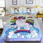 Sweet Dreams Rainbow Unicorn 3D Customize Bedding Set/ Duvet Cover Set/  Bedroom Set/ Bedlinen , Comforter Set