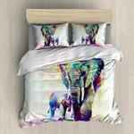 Mother and Baby Elephant  3D Customized Bedding Sets Duvet Cover Bedlinen Bed set , Comforter Set
