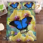 Blue Butterfly And The Orchid #0926-3 Bedding Set Cover EXR5100 , Comforter Set